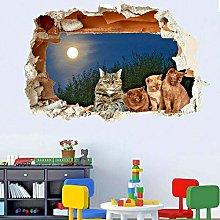 SYYUN Adesivi murali super carino gatto gattino