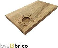 Tagliere artigianale con incavo in legno di