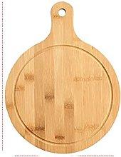 Tagliere per pizza in legno rotondo con teglia per
