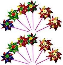 Tahuaon, girandola in plastica arcobaleno, fai da