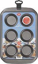 Tala 10A11238 - Teglia per 6 muffin, in acciaio al