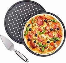 Tang Yuan 2 teglie per Pizza antiaderenti, teglia