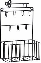 Tangpingsi Porta-oggetti da parete con 7 ganci per