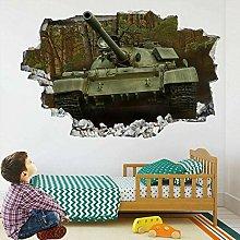 Tank War Serbatoio 3D Adesivo Da Parete Adesivo