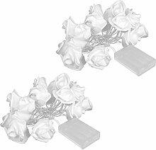 TANKE Light String - 2Pcs 20LED Simulato Rose
