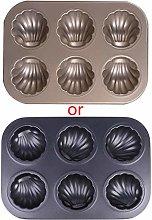 Tanmo 6Grid Madeleine - Stampo per torte