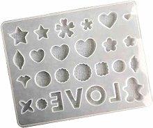 Tanmo - Stampo in silicone a forma di cuore, per