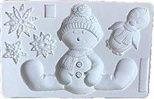 Tanmo - Stampo in silicone con pupazzo di neve,