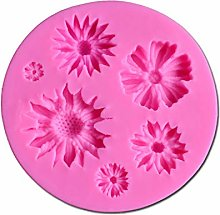 Tanmo - Stampo in silicone per torte con fiori e