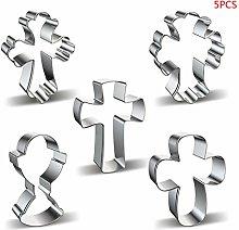 Tanmo - Stampo per biscotti a forma di croce, 5