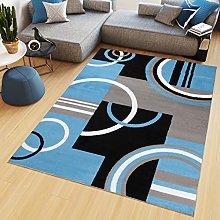 TAPISO Maya Tappeto Salotto Moderno Soggiorno Blu