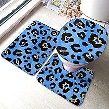 Tappeti da bagno antiscivolo 3 pezzi Set Blu Con