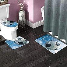Tappeti da bagno antiscivolo 3 pezzi Set Calcio