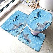Tappeti da bagno antiscivolo 3 pezzi set di