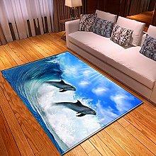 Tappeti di Moda Pelo Corto Delfino dell'oceano