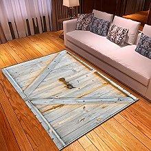 Tappeti di Moda Pelo Corto Porta in legno vintage