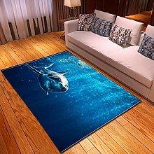 Tappeti di Moda Pelo Corto Squalo di fondo marino