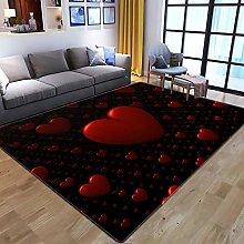 Tappeti Moderni Salotto Cuore D'Amore Rosso
