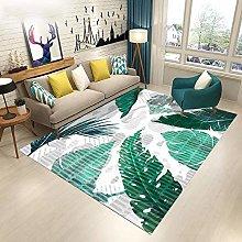 Tappeti Moderni Salotto Foglie Verde Smeraldo