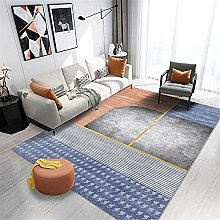 Tappeti tappeti soggiorno Strisce blu grigio