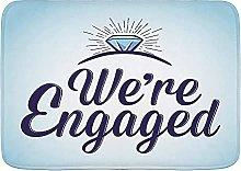 Tappetini da bagno, citazione We are Engaged