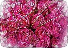 Tappetini da bagno da bagno, bouquet di rose di