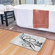 Tappetini da bagno per il bagno, design a forma di