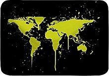 Tappetini da bagno per il bagno, mappa del mondo,