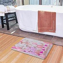 Tappetini da bagno per il bagno, palloncini rosa e