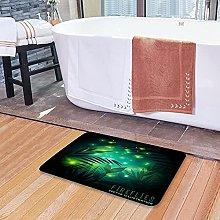Tappetini da bagno per il bagno, simbolo lucciole,