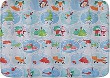 Tappetini da bagno per il bagno, tema invernale