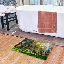 Tappetini da bagno per il bagno, verde erba della