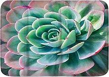 Tappetini da bagno, piante succulente tropicali,
