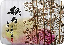Tappetini da bagno, tappetini da bagno in bambù