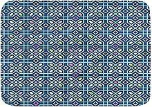 Tappetini da bagno, tessere di mosaico tribale,