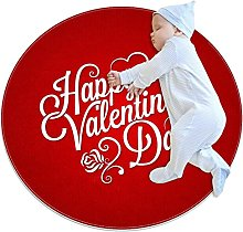 Tappetini rotondi antiscivolo per San Valentino,