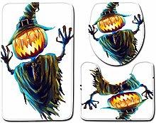 Tappetino da Bagno Antiscivolo 3 Pezzi 45X75 Cm