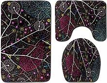 Tappetino da Bagno Antiscivolo 3 Pezzi 50X80 Cm