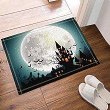 Tappetino da bagno con castello di Halloween,