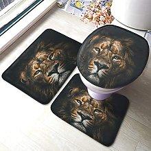 Tappetino da bagno con leone, con viso di leone, 3