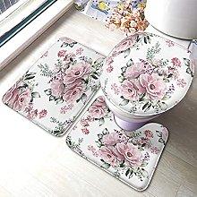 Tappetino da bagno con motivo floreale con rose e