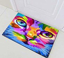 Tappetino da bagno con occhi colorati,
