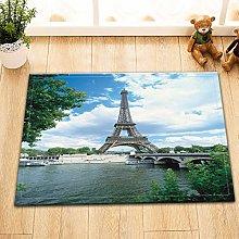 Tappetino da bagno con torre Eiffel e acqua,