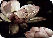 Tappetino da bagno durevole, fiore di loto,
