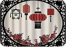 Tappetino da bagno durevole, lanterne giapponesi,