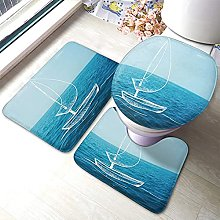 Tappetino da bagno in 3 pezzi per bagno con vasca
