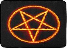 Tappetino da Bagno Pentacolo Satana Nero