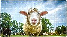 Tappetino da bagno per bambini con doccia pecore