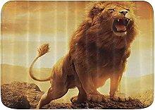 Tappetino da bagno resistente, design leone,