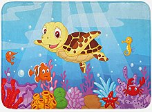 Tappetino da bagno tartaruga, divertente stile